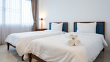 Modern white hotel room