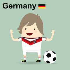 germany national football team, businessman happy is playing soc