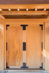 Japanese wooden door
