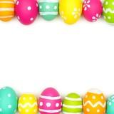 Fototapety Colorful Easter egg double border over white