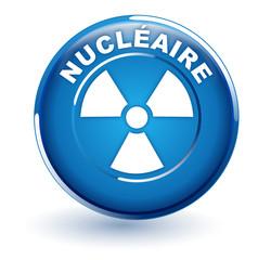 nucléaire sur bouton bleu