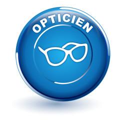 opticien sur bouton bleu