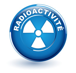 radioactivité sur bouton bleu