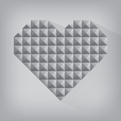retro heart triangle abstract love valentine day jewel texture s
