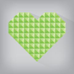 green earth retro heart triangle abstract love valentine day jew