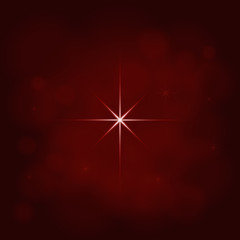 abstract star magic light sky bubble blur red background