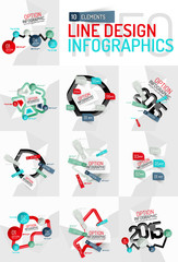 Colorful fresh sticker infographics