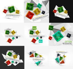 Set of vector fresh business abstract infographic