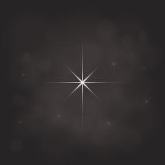 abstract star magic light sky bubble blur dark background