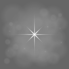abstract star magic light sky bubble blur gray background