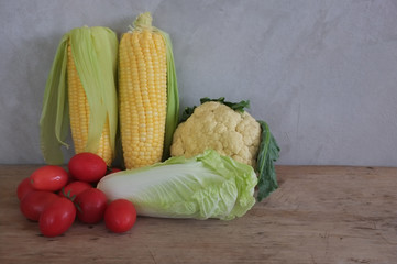Many vegetables, assorted colors Chinese Cabbage,cauliflower,tom