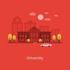 Flat design modern vector illustration icons set of urban