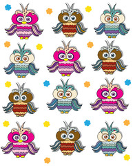 children background with owls
