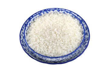 Short grain Japanese Rice, isolated on white