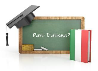 italian learning concept