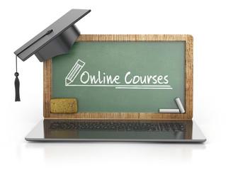 online courses. web concept