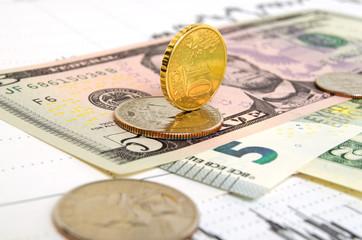 Euro dollar exchange rate.