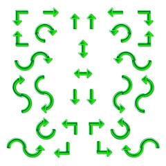 Зелёные стрелки из стекла