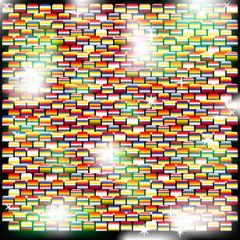 Фон из блестящих квадратов с разноцветными оттенками