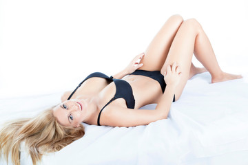 Beauty blonde woman