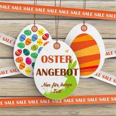 Sale Sticker Lines Easter Offer Wood
