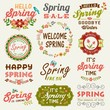 Spring typography design elements collection