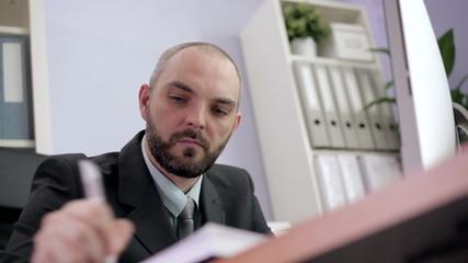 Businessman Planning his Schedule