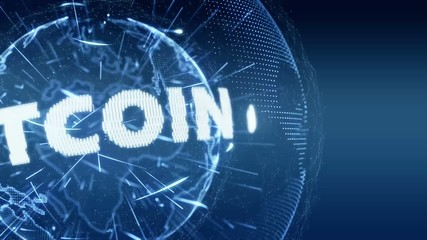 World News bitcoin currency Intro Teaser blue