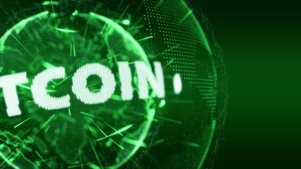 World News bitcoin currency Intro Teaser green