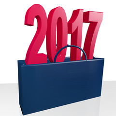 Shopping bag with year 2017