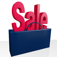 Shopping bag with word sale