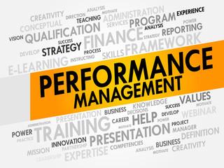 Performance Management word cloud, business concept