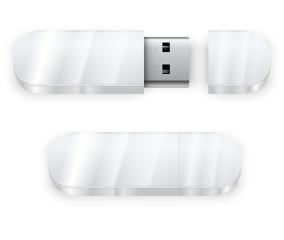 White flash drive