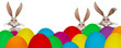 canvas print picture - Colorful Easter banner