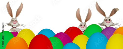 canvas print picture Colorful Easter banner