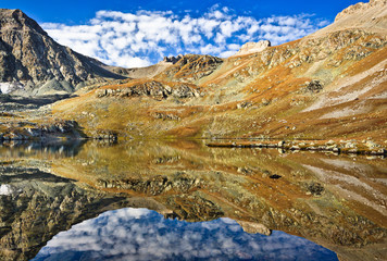 A lake high in the Caucasus mountain, Arhiz area