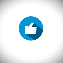 flat design vector icon of like symbol used in social network we