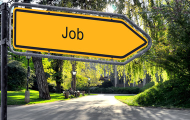 Strassenschild 25b - Job