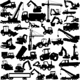 construction machine big collection - vector