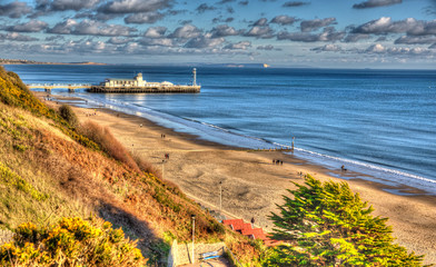 Bournemouth Dorset England UK bright colourful HDR
