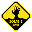 Vector sign zombie zone. - 78303319