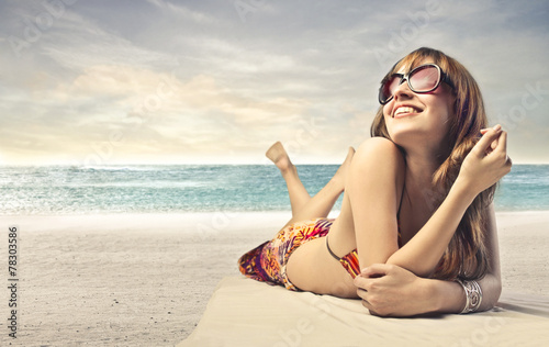 canvas print picture Relax at the seaside