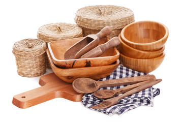Natural bamboo kitchenware