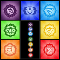 Seven Chakras collage