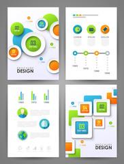 Set of brochure design templates
