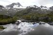 canvas print picture - See am Egesengrat, Stubaier Alpen