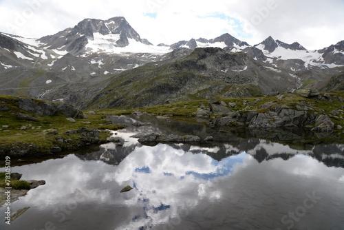 canvas print picture See am Egesengrat, Stubaier Alpen