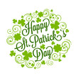 St. Patrick's card with clover and typography - 78305321