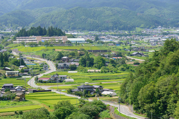 Landscape of IIda in Nagano, Japan