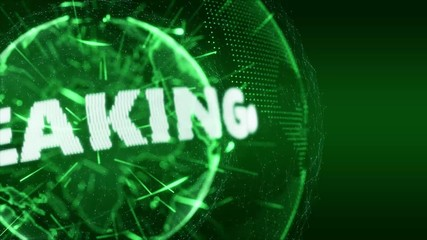 World News Breaking Intro Teaser green